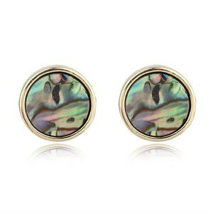 3/$20 Abalone Shell Stud Earrings Gold